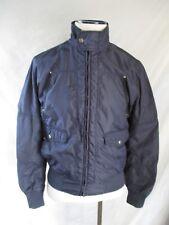 Refrigue authentic blue nylon bear patch zip front windbreaker jacket large