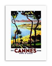 Cannes Cote dAzur BEACH FILM FESTIVAL FRANCEAD POSTER Voyage Toile Art Prints