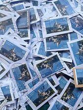 100 Stück: 62 Cent Marksburg Briefmarken (Kilo-Ware,gestempelt,Slot)