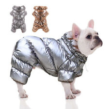 Waterproof Dog Winter Jumpsuit Clothes Warm Fleece Jacket Coat Small Medium Dogs
