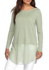 Eileen Fisher Stretch Silk Jersey Bateau Neck Tunic, Sea (Green), MEDIUM, NWT