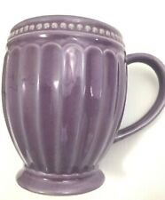Lenox French Perle Groove Fluted Coffee Mug Cup Purple Violet Lavender EUC