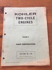Kohler K309-1 Two Cycle Engine Parts Manual 1968
