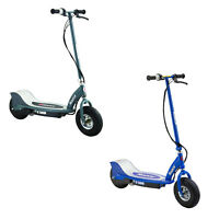 Razor E300 Rechargeable Electric Motorized Ride On Kid Scooters, 1 Gray & 1 Blue