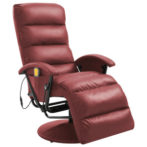 Electric Massage Chair Sofa Recliner Relaxing Chair Leisure Sofa Faux Leather UK