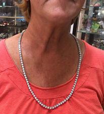 Diamond Riviera Tennis Necklace 21ct  White 14k Gold 76.3 grams