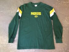 MENS NFL GREEN BAY PACKERS LONG SLEEVE SHIRT SIZE LARGE COTTON H-94
