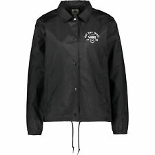 Vans Women's THANKS COACH Lightweight Logo Jacket, Black, size M