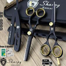 """New Professional Sharpy Hairdressing Scissors Shears Black Salon Barber 5.5"""""""