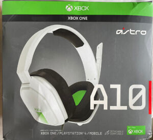 Astro Gaming A10 Over-Ear Wired Gaming Headset for Xbox, White Green