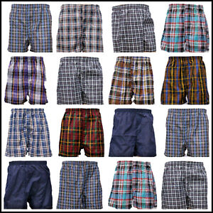 100% Pure Egyptian Cotton Woven Boxer Shorts for Men All Size All Packs Boxers
