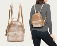 $298 Frye Melissa Distressed Leather Mini Backpack Womens Shoulder Bag in Silver