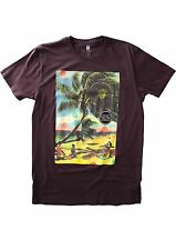 Analog Beach Daze Tee (M) Deep Purple