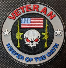 Veteran Keeper Of The Oath  Embroidered Biker Patch Veteran Military Patch