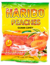 Haribo Peaches Gummi Candy FOUR PACK 5oz Bags FREE SHIPPING