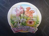 2010 PERU ORCHIDS 4 STAMP MINI SHEET MNH