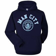 Official Manchester City Football Crest Hoodie (Adults Unisex Sizes S to 2XL)