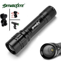 SkyWolfEye 50000LM Focus T6 LED 18650 Zoomable Flashlight Mini Torch Lamp Holder