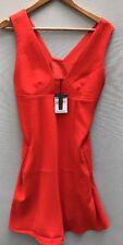 T Alexander Wang Dress NWT 4 Orange Crepe Sundress NEW Sleeveless Shift Small