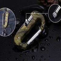 5 in 1 Multifunktionswerkzeug Karabinerhaken Cutter Tool Gear Outdoor EDC W8R1