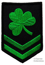 Green Irish Clover Military Embroidered Patch Shamrock Brigade Iron-on Ireland