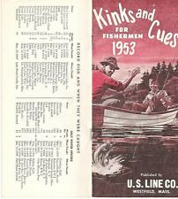 RARE 1953 KINKS AND CUES FOR FISHERMEN US LINE CO BROCHURE RETRO ILLUSTRATIONS