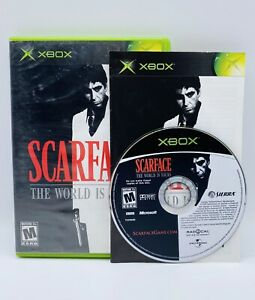 Scarface The World is Yours Microsoft Xbox 2006 Game With Manual Good Condition
