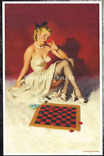 "1940's Elvgren Authentic Pin-Up Poster Art Print  ""Check & Double Check"" 11x17"