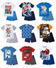Boys Official Licensed Various Character Short Sleeve Summer Pyjamas PJs 3 - 12