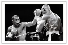 SUGAR RAY LEONARD & MARVIN HAGLER BOXING SIGNED AUTOGRAPH PHOTO PRINT