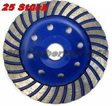 25 Stück Diamant Schleiftopf Schleifteller 125mm-Turbo Profi