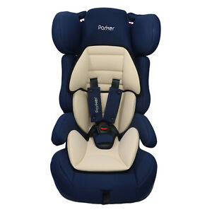 Navy & Beige Parker Child Baby Car Seat Group 1/2/3 Safety Booster Seat