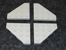 (4) 4X4 White Tapered Corner / Wing Plate Bricks ~ Lego ~ NEW ~ Space