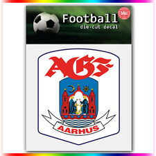 """AGF Aarhus UEFA Die Cut Vinyl Sticker Car Bumper Window 4""""x3.5"""""""