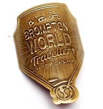 Métallique Head Tube badge pour BROMPTON Noir