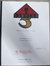 Babylon5 Treatment (dated 9/1/88), season 1 Bible (dtd 5/20/93), script for #103
