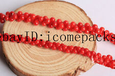 "wholesale red coral bone 8*3mm 15"" beads nature"