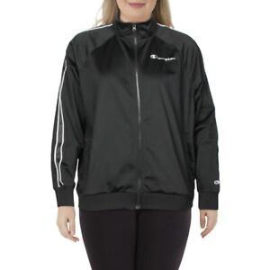 Champion Womens B/W Running Fitness Workout Track Jacket Plus 3X BHFO 1235
