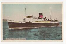 Steamship RMS King Orry Vintage Postcard 787b