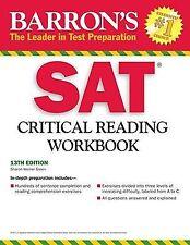 Barron's SAT Critical Reading Workbook by Mitchel Weiner and Sharon Weiner Gree…