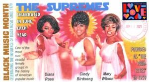 COVERSCAPE computer designed June is Black Music Month (The Supremes) cover