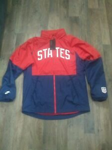 Nike Men's Team USA Soccer Full Zip Jacket Hidden Hood Cn7075-688 Retail $115