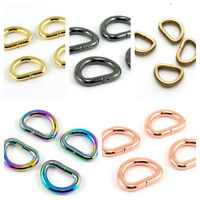 """D RINGS 1/2"""" / 12mm  - range of finishes - for bags & crafts by Emmaline Bags"""