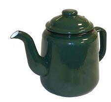 FALCON GREEN ENAMEL TEA POT WITH HANDLE & LID TEAPOT 1.5L - CAMPING