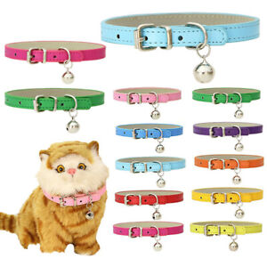 Puppy Cat Dog Necklace Collar Adjustable PU Leather For Pet Chihuahua Yorkshire