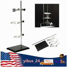 Laboratory Support Stand Kit With Clamp Beakers Fixing Clip Iron Frame Ring 50cm
