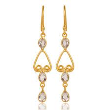 Crsytal Gemstone Dangle Earrings 14K Gold Plated Wedding Fashion Jewelry