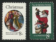US Scott #1471-72, Singles 1972 Christmas 8c FVF MNH