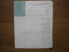 Anciennes factures 1874 / 1877 avec timbres VINS FINS RHUM KIRSCH pour PHARMACIE