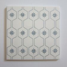 "Vintage 1960s 6"" x 6"" Grey Honeycomb Wall Tile, 137 sq ft available, ITALY"